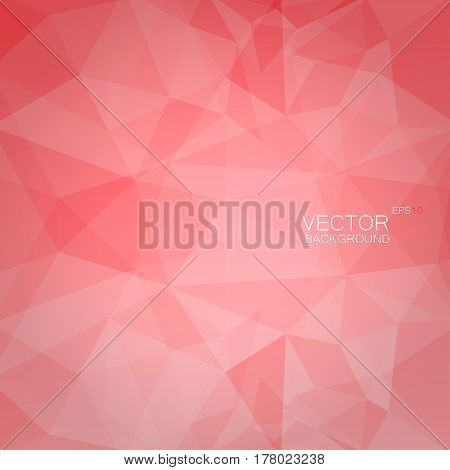 Abstract polygonal geometric background light red color