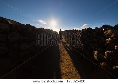 Exploring The Island Of The Sun, Titicaca Lake, Bolivia