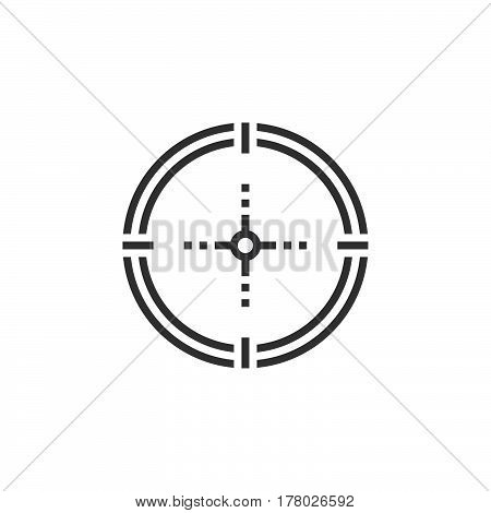 Aim target line icon outline vector sign linear pictogram isolated on white. logo illustration