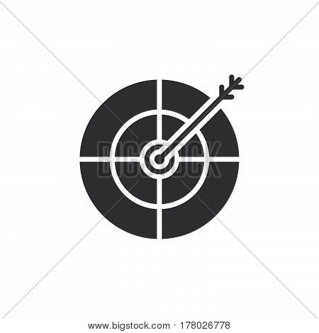 Target goal icon vector filled flat sign solid pictogram isolated on white logo illustration