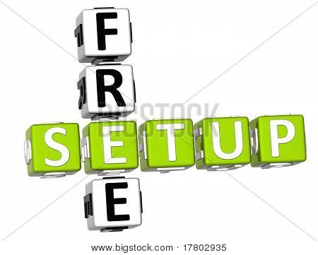 3D Free Setup Crossword