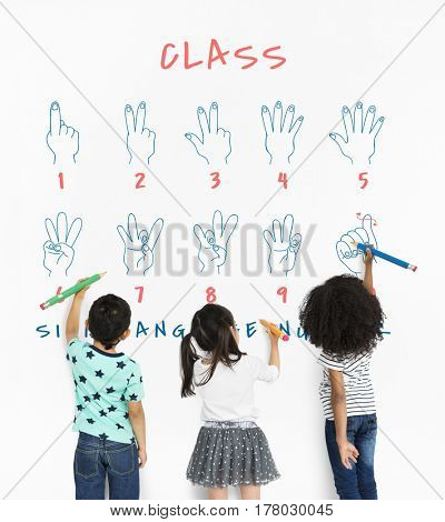 Sign Language Number Instruction Lesson Graphic
