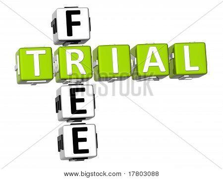 3D Free Trial Crossword