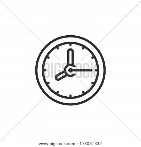 Clock line icon outline vector sign linear pictogram isolated on white. logo illustration