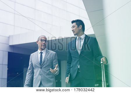 Business men talking and discussion together