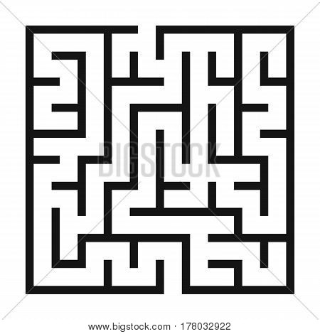 Maze Game background. Labyrinth with Entry and Exit. Vector Illustration.