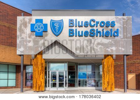 Blue Cross Blue Shield Exterior And Logo