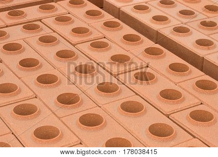 the new Red clay brick as background