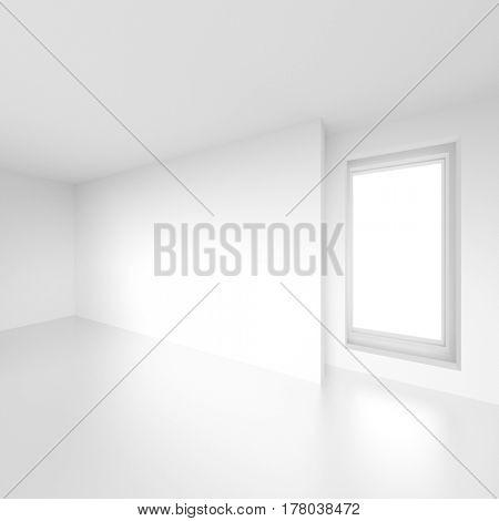 Modern Interior Design. Abstract White Background. 3d Illustration