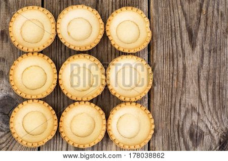 Antipasti tartlets with gentle mousse. Studio Photo