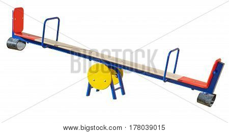 the new Children's playground on a white background