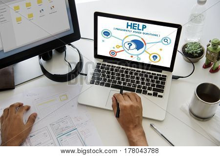 Help Solution Helpdesk IconsGraphic Diagram