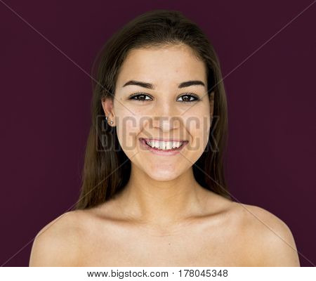 Woman portrait shoot with smiling face