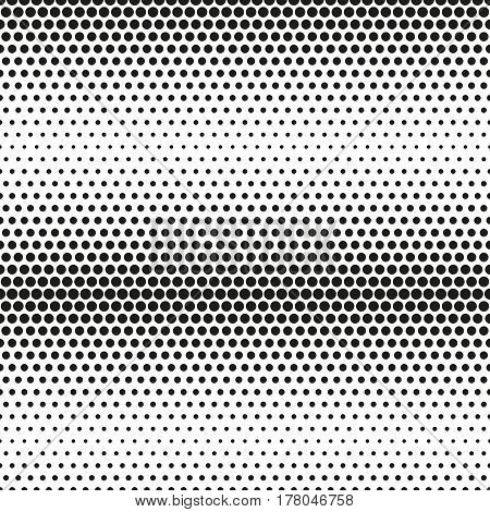 Abstract pattern with dots. Modern black and white texture. Geometric background