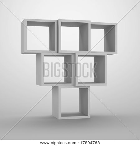 Arrangement of cubes