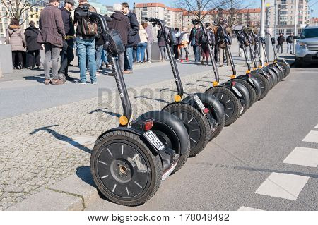 Many Segways  On Street - Sightseeing Tours In Berlin