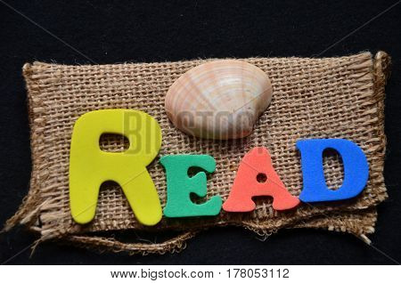 word read on a  abstract colorful background