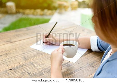 Hand Writing On White Paper
