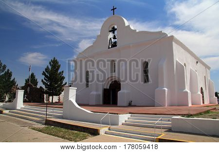 Historic San Elizario Chapel Along the El Paso Mission Trail in the State of Texas