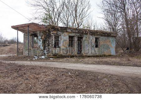ESTONIA, APRIL 9, 2016: Humala abandoned rocket base.