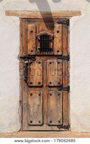 Entrance to the Old El Paso County Jail in El Paso, Texas