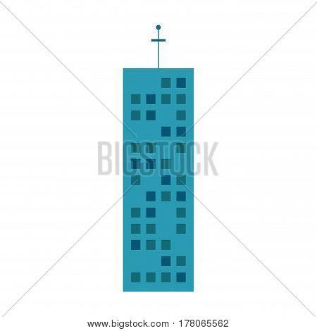 building urban skyscraper antenna vector illustration eps 10