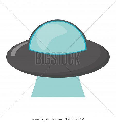 ufo vehicle spatial image vector illustration eps 10