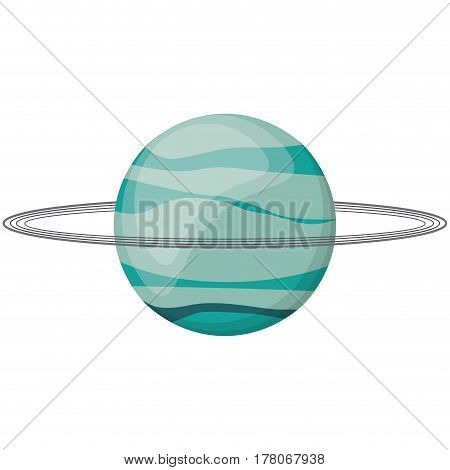 uranus planet space image vector illustration eps 10
