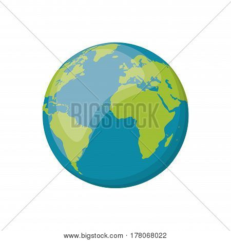 earth planet space image vector illustration eps 10