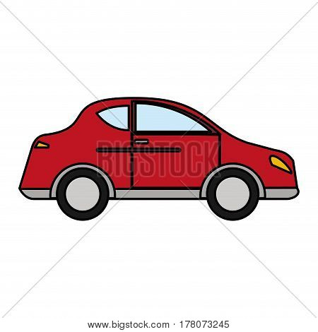 red car sedan vehicle transport vector illustration eps 10