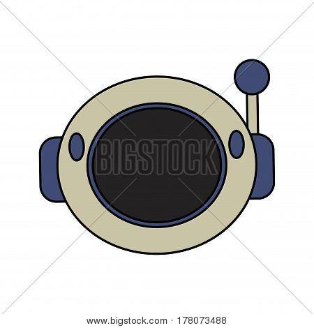 helmet astronaut space security vector illustration eps 10