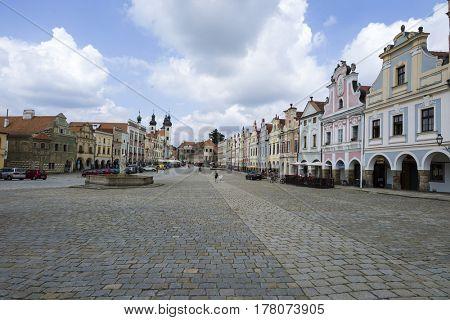 czech republic, telc, town square