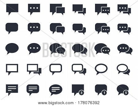 speech bubble set, communication, talk and dialog icons