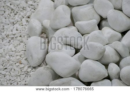 Texture Of A Decorative Stones For Garden