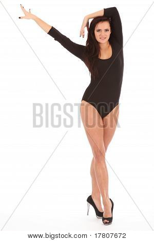 Sexy girl dramatic dancing pose