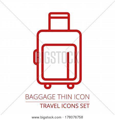 Luggage thin Icon illustration Part of travel icons set