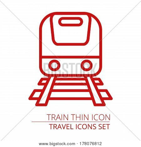 Train thin icon Part of travel icons set