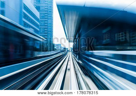 City train moving blurred motion abstract background
