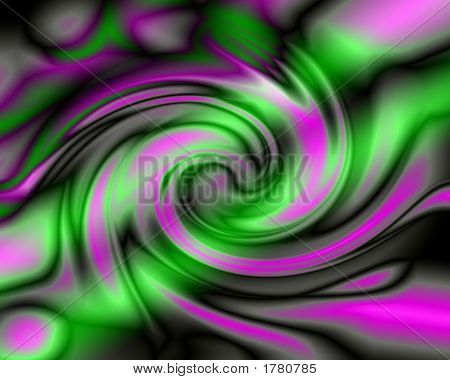 Explosion Of Green Neon - Digital Illustration