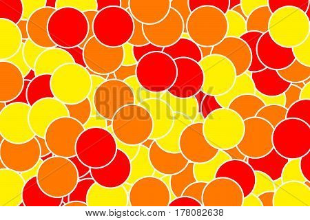 Orbs Backdrop With Geometric Pattern For Modern Concept
