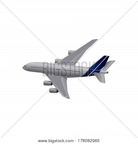 ector illustration high detailed plane. Jet commercial airplane.