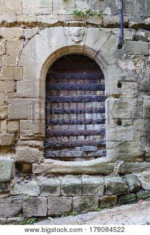 Original medieval doors of the town of Briones in La Rioja Spain