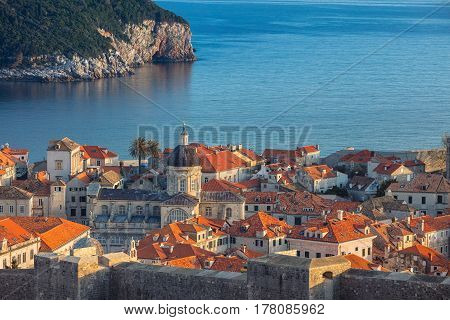 Dubrovnik, Croatia. Beautiful romantic old town of Dubrovnik during sunny day.