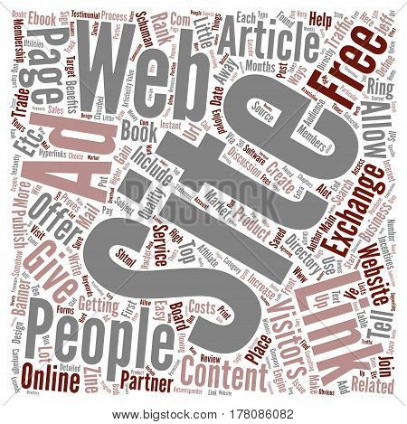 Easy Ways To Get People To Link To Your Web Site text background word cloud concept