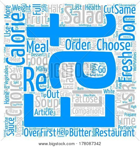 Eat Out and Lose Weight text background word cloud concept