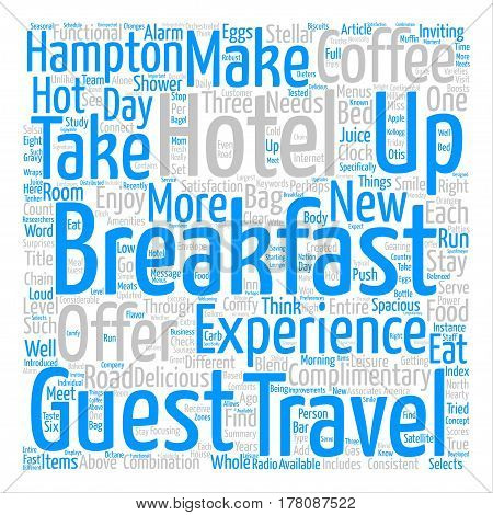 Eat Up Travelers Enjoy Breakfast On The Road Word Cloud Concept Text Background