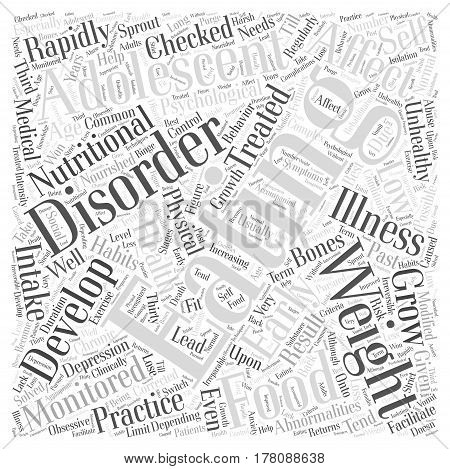Eating Disorders in Adolescents Word Cloud Concept