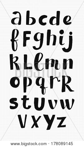 Vector Ethnic Latin Alphabet, Scandinavian Style. Unique Hand Drawn Font. Isolated english abc letters.
