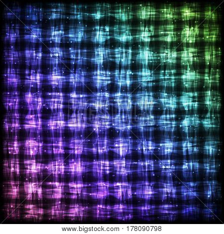 Glowing Checkered Pattern with Light Effect. Colorful Bright Abstract Background for Site Web App Program.