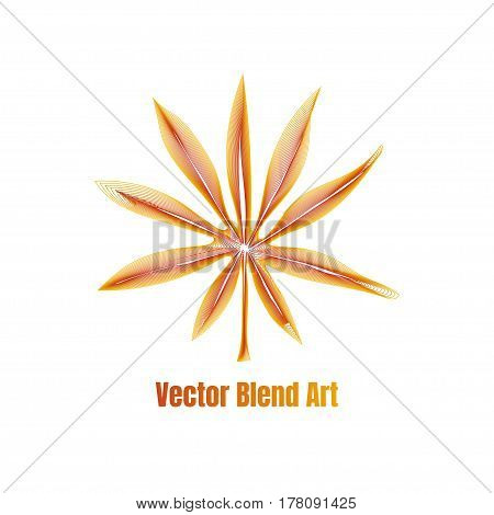 Exotic Leaf Vector